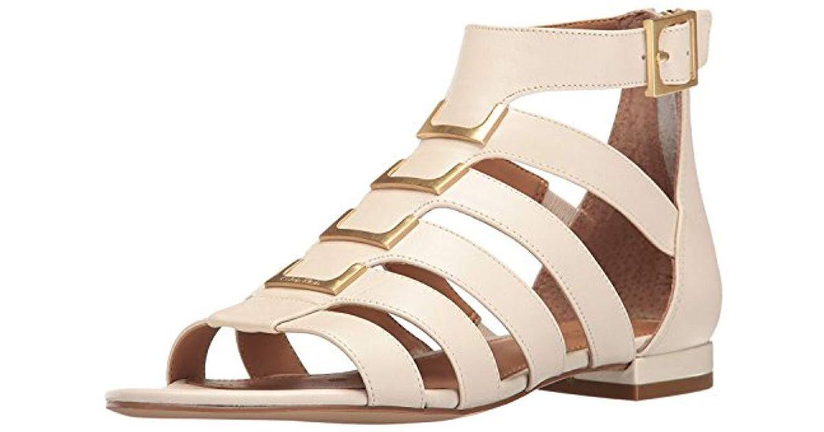 80f264e4735a Lyst - Calvin Klein Estes Gladiator Sandal in Natural