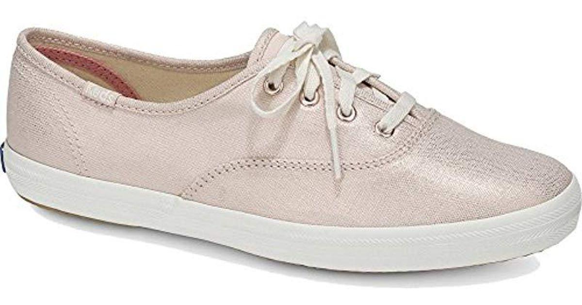 47ea6516b38 Lyst - Keds Champion Metallic Linen Sneaker in Pink - Save 6%