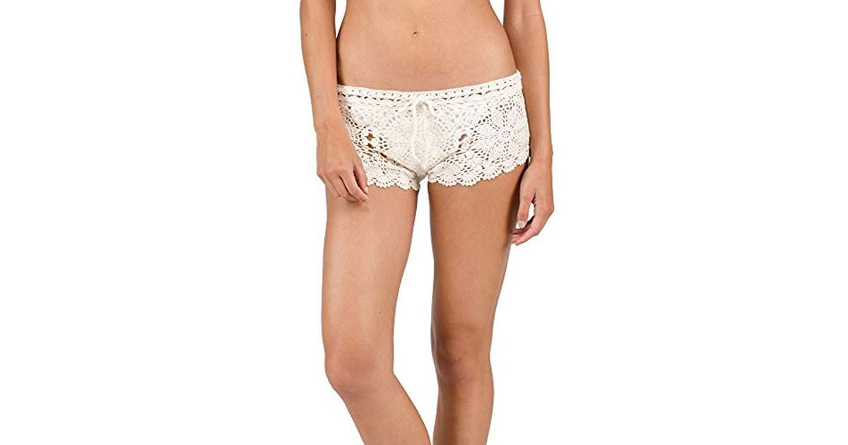 Lyst Volcom Dwell Beach Crochet Cover Up Shorts Save 11