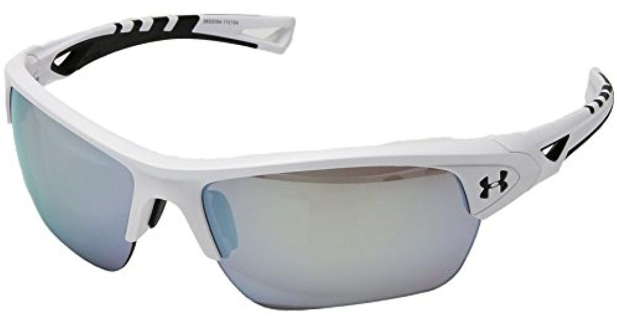 cf41eeaff14 Lyst - Under Armour Ua Octane Wrap Sunglasses in White for Men - Save 22%