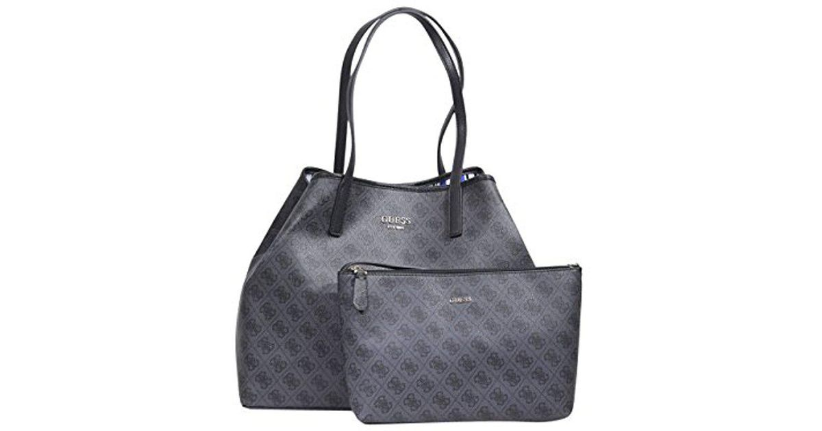 28bdcff1a1 Lyst - Guess Vikky Classic Logo Large Tote in Gray