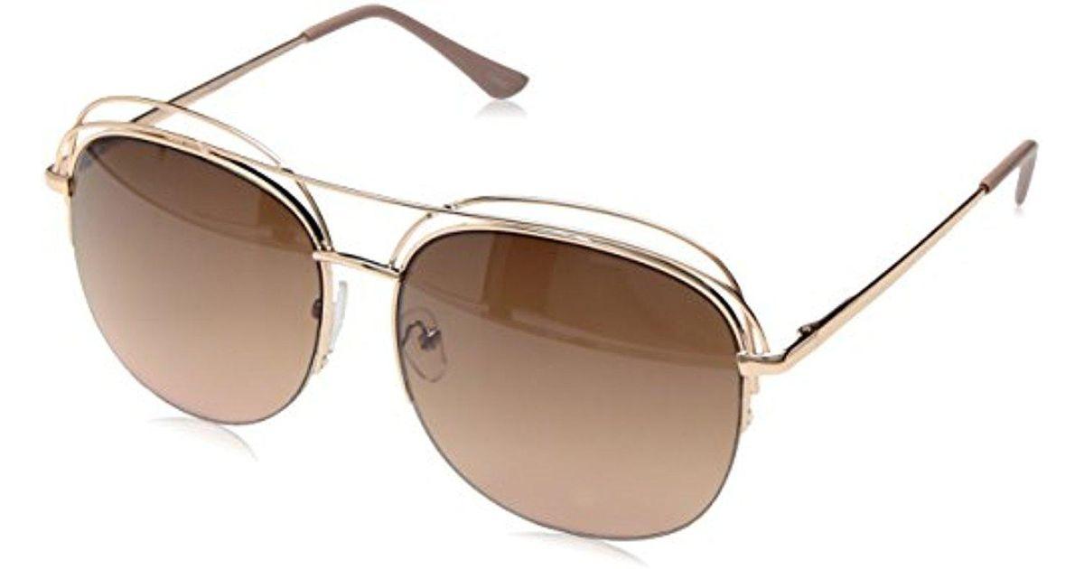 ce5fca222b8 Lyst - Nanette Nanette Lepore Nanette By Nanette Lepore Nn223 Rgdrs Round  Sunglasses Gold rose