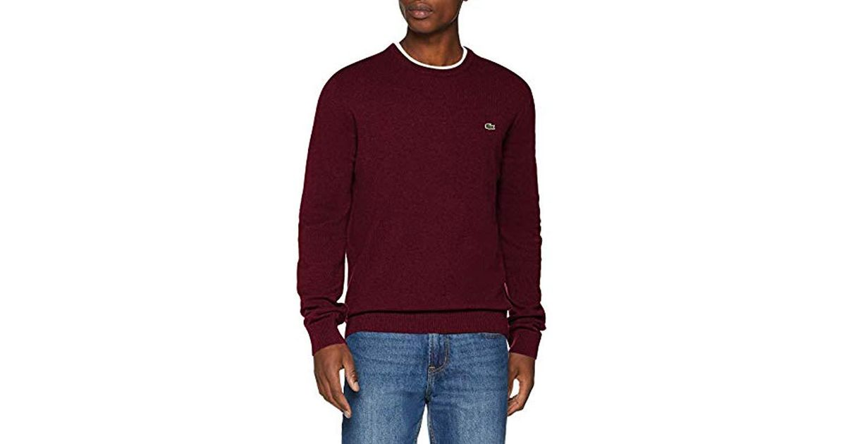 Lacoste Jumper in Red for Men - Lyst 27c577e090c
