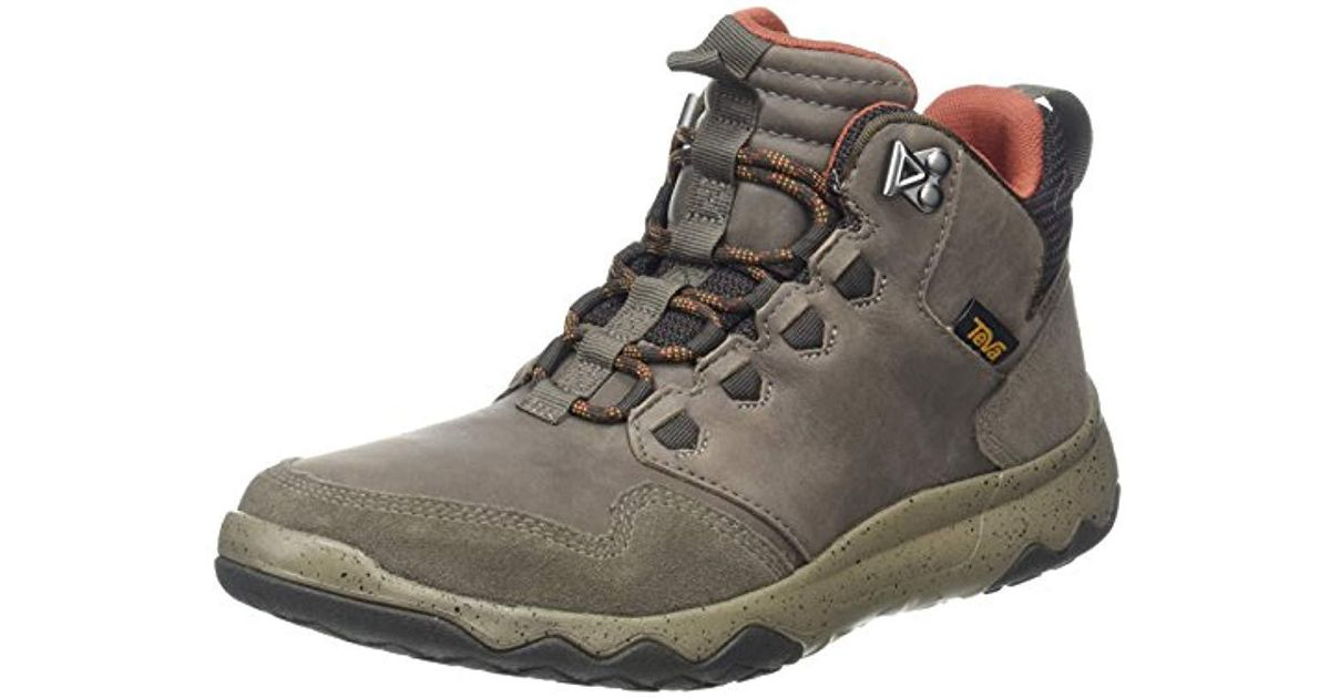 07bc6d9eef47b1 Teva Arrowood Lux Mid Wp Sports And Outdoor Light Hiking Boot in Gray for  Men - Lyst