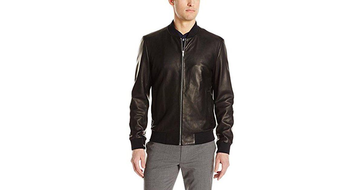 1b41c464b7a Theory Brant L Kelleher Bomber Jacket in Black for Men - Lyst