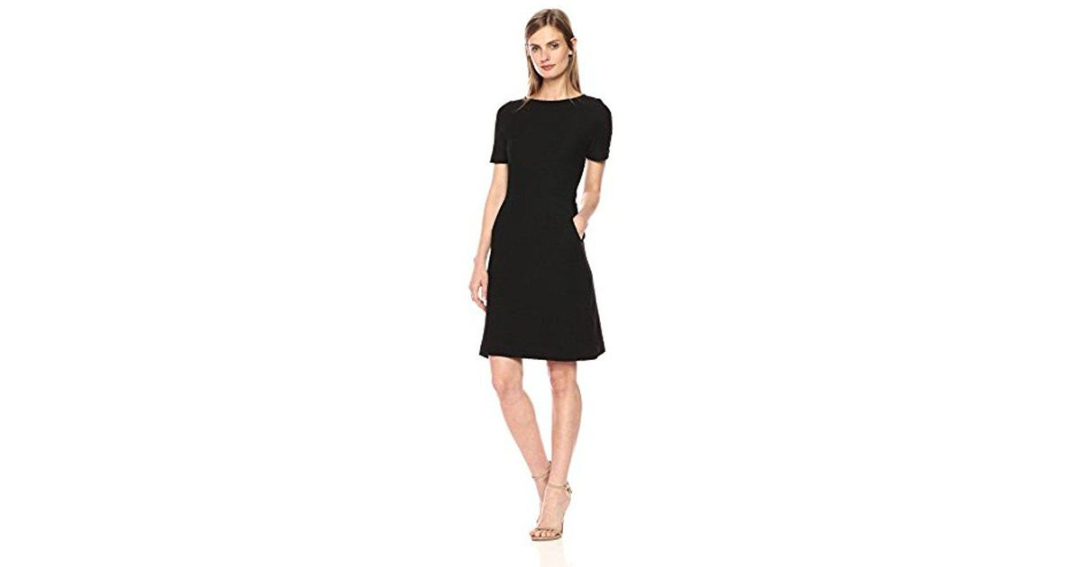 Lyst French Connection Dixie Texture Cap Sleeve Dress In Black