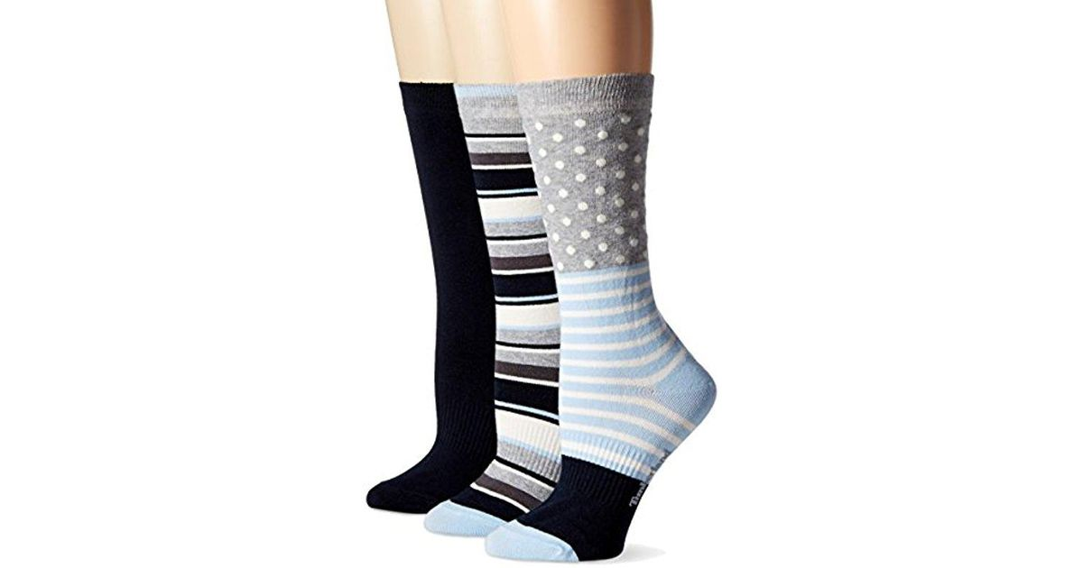 a58ad696b79d8 Timberland - Blue Dot And Stripe Crew Sock 3-pack Assorted - Lyst