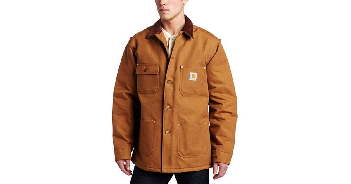 24b0cb42c3 Carhartt Big & Tall Duck Chore Coat Blanket Lined C001 in Brown for Men -  Lyst