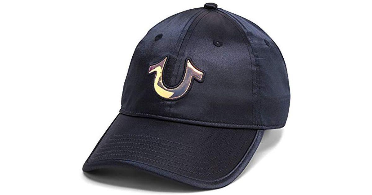 4266531d Lyst - True Religion Satin Baseball Cap in Blue