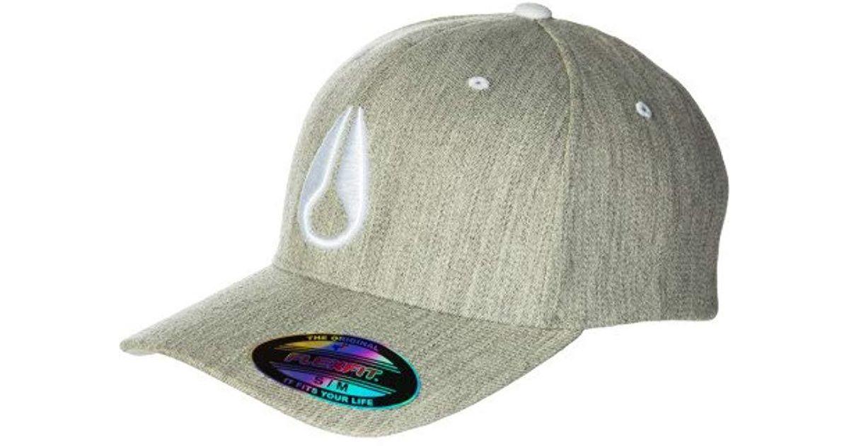 4a66b07b926 Lyst - Nixon Deep Down Ff Athletic Fit Hat in Gray for Men
