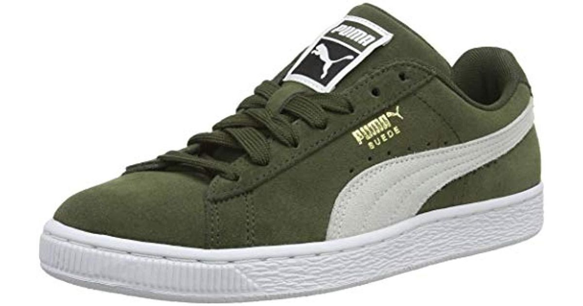 cb9a15b850540e PUMA Unisex Adults  Suede Classic Low-top Sneakers in Green for Men - Save  49% - Lyst