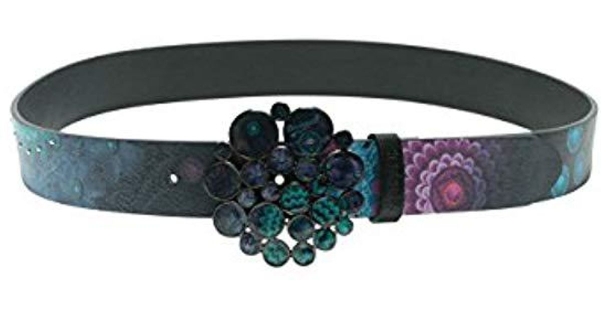 nouveau style 76296 1f235 Desigual - Black Belt_Bollywood, Ceinture Femme - Lyst