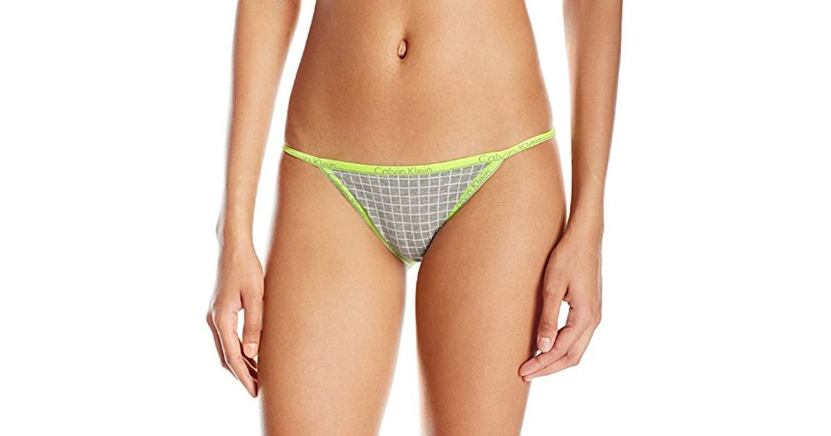 bd92aee26fe11 Calvin Klein - Multicolor Ck Id Cotton Small Waistband Bikini String Panty  - Lyst