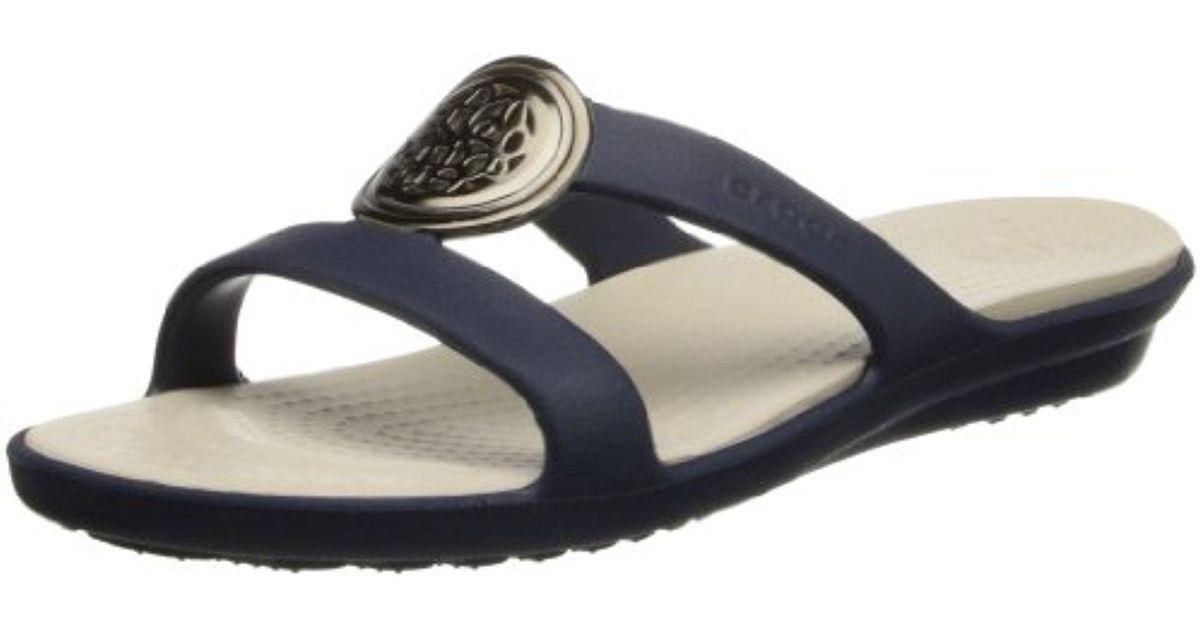 15559c508ffc Lyst - Crocs™ Sanrah Circle Sandal in Blue