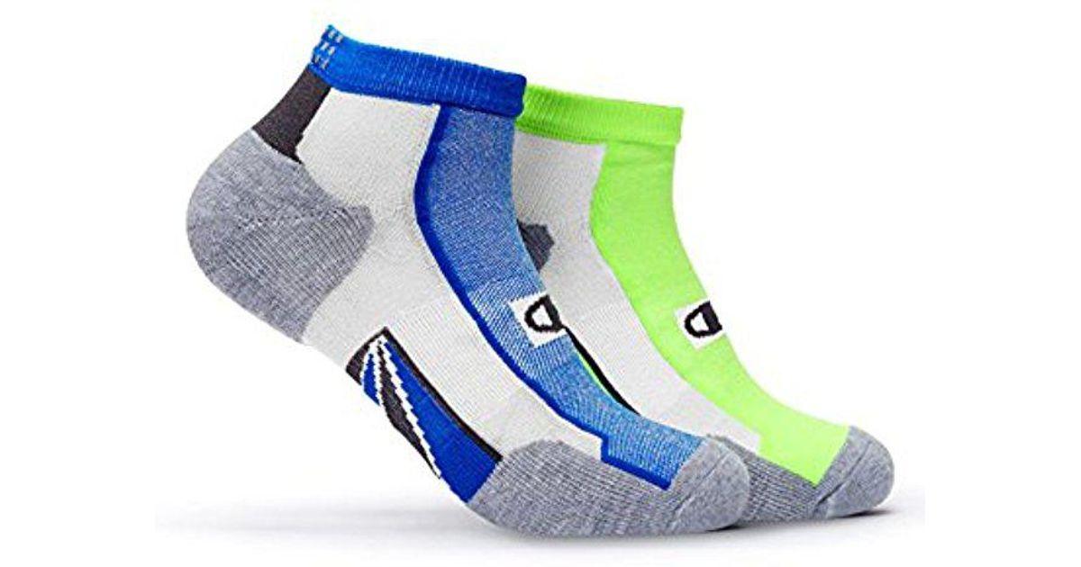 2828da7f5288d Champion - Multicolor 2 Pack Mid-ankle Running Socks, Orange/grey  Assortment, 6-12 for Men - Lyst