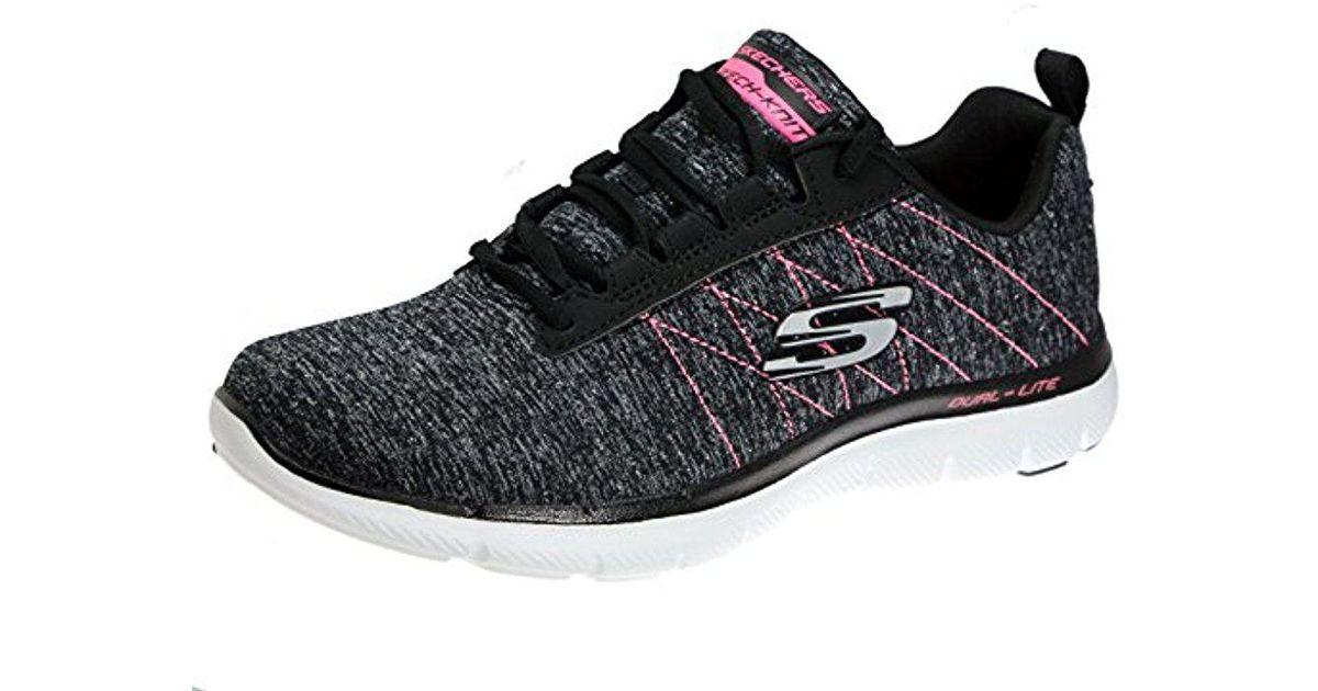 Skechers Black Flex Appeal 2.0 Sneaker Lyst