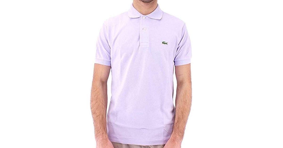 Lacoste Homme L1212 Purple Pour En Coloris Polo R5j4LA