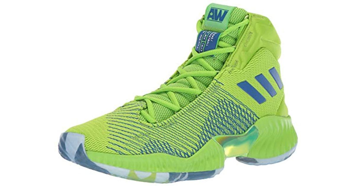 b9591666a64d Lyst - adidas Originals Pro Bounce 2018 Basketball Shoe in Green for Men