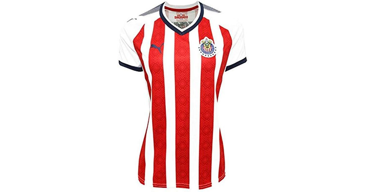 wholesale dealer d0202 35d35 PUMA - Red Chivas S Home Shirt Replica 17-18 - Lyst