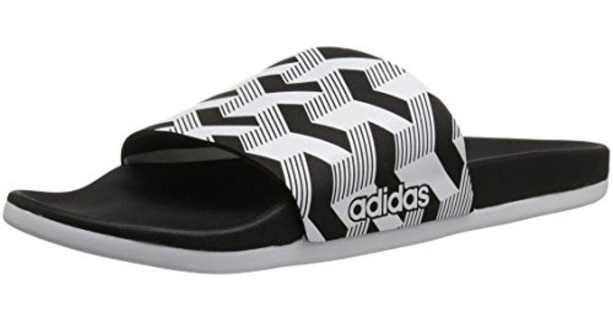 online retailer bd2aa 18974 Lyst - Adidas Originals Adidas Adilette Cf+ Link Gr Slide Sandal, Core  Blackwhitecore Black, 11 M Us in Black