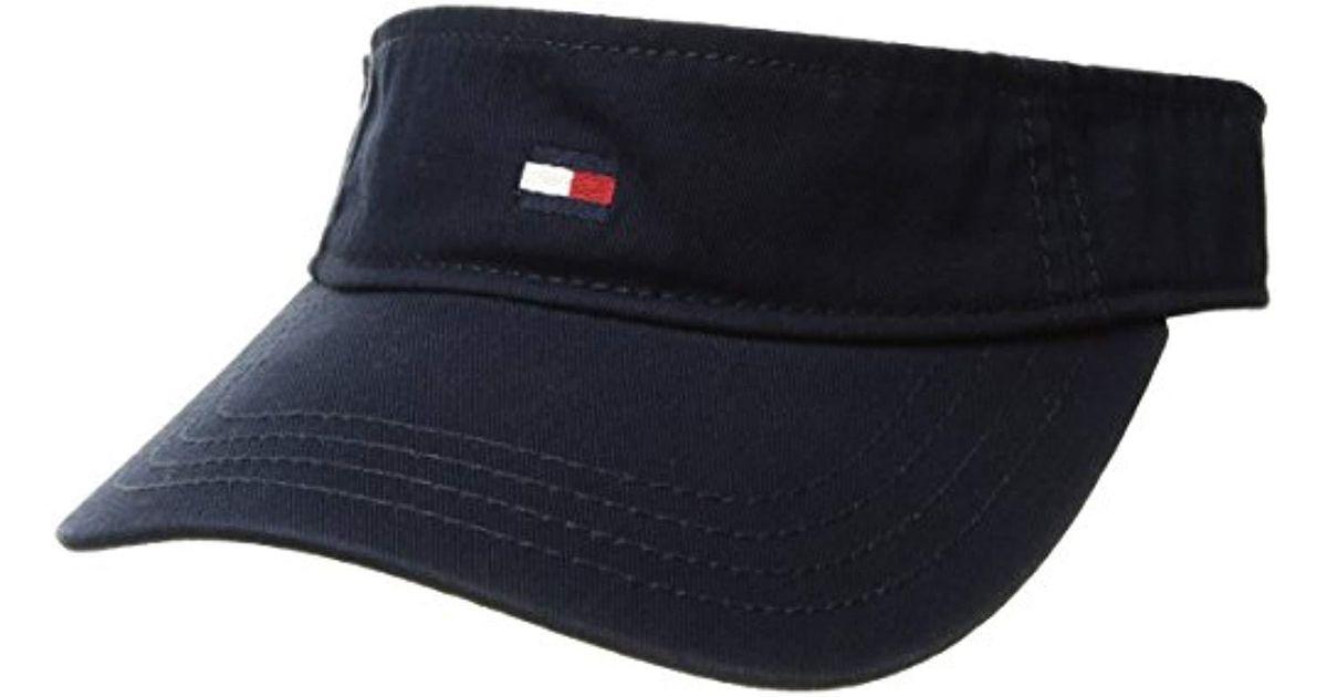 Lyst - Tommy Hilfiger Dad Hat Flag Solid Cotton Visor in Blue for Men baa769113d1