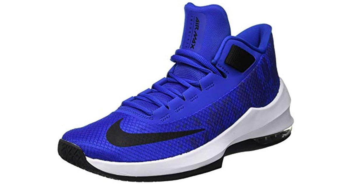 9f675644272 Nike Air Max Infuriate 2 Mid Basketball Shoes in Blue for Men - Lyst