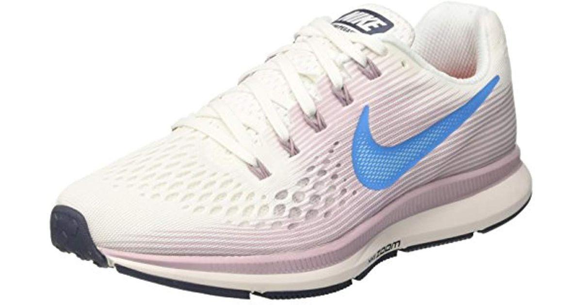 separation shoes b1296 de2e7 Nike White Damen Laufschuh Air Zoom Pegasus 34 Competition Running Shoes