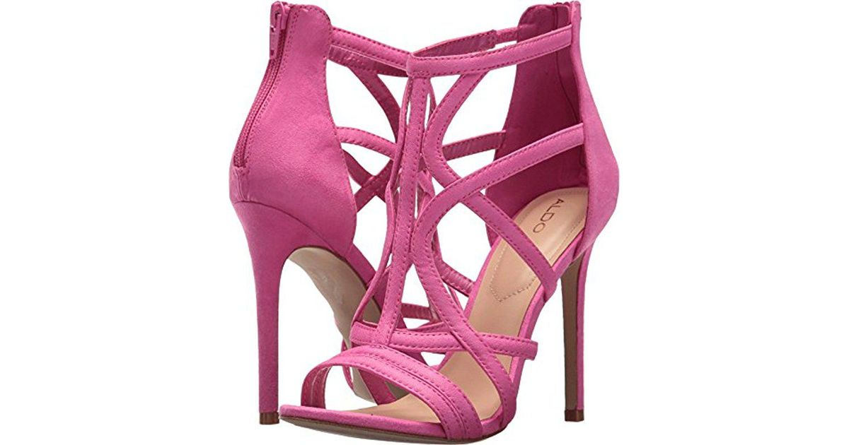 334ddcb7d89a Lyst - ALDO Tifania Open Toe Sandals in Pink