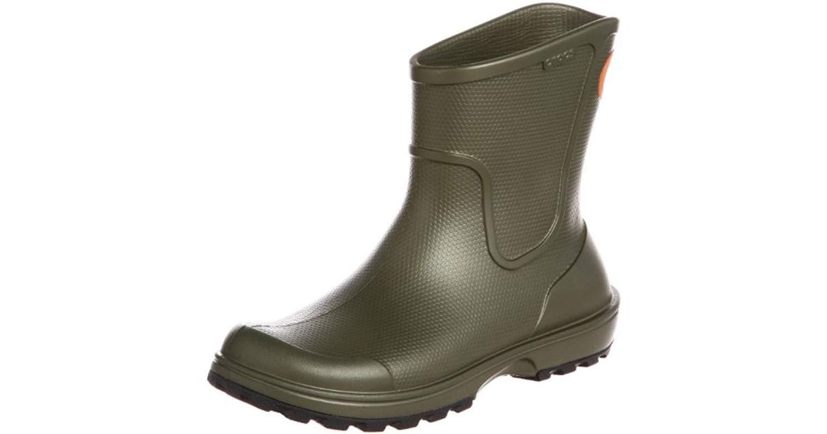 30a935df7340 Crocs™ S Wellie Rain Boot in Green for Men - Lyst