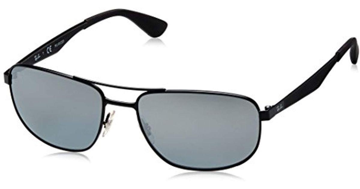 9f7af513315 Ray-Ban Metal Sunglasses In Matte Black Green Rb3528 006 71 61 in Black for  Men - Lyst