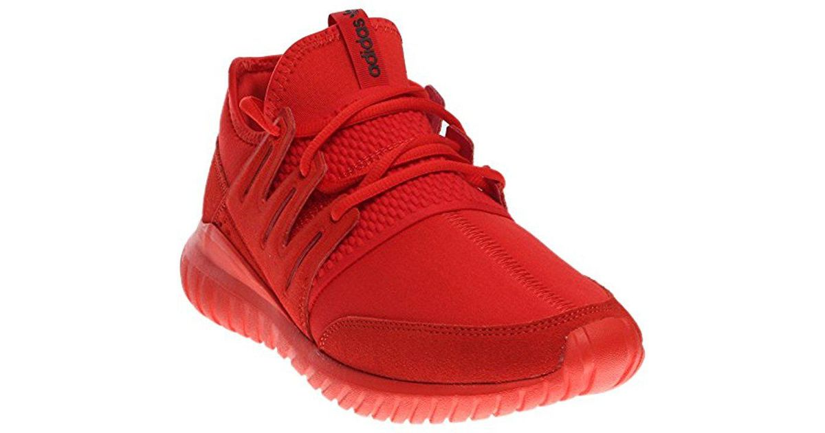 sports shoes 360e4 d688a Adidas Originals - Red Tubular Radial Fashion Sneaker for Men - Lyst