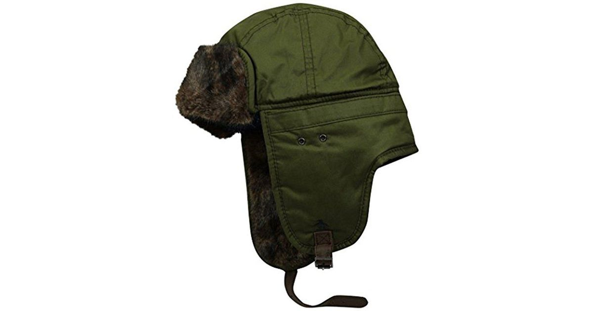 afba4b33d12 Lyst - Original Penguin Waxed Cotton Trapper Hat in Green for Men