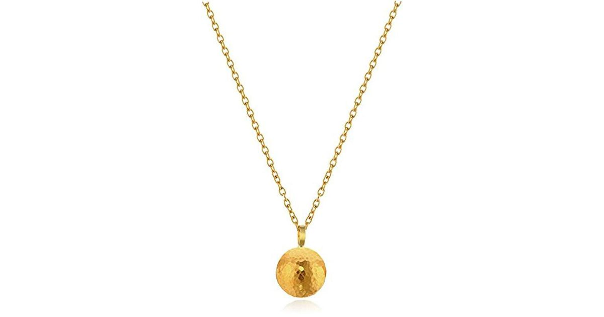 Lyst gurhan lentil 24k gold pendant necklace in metallic aloadofball Choice Image