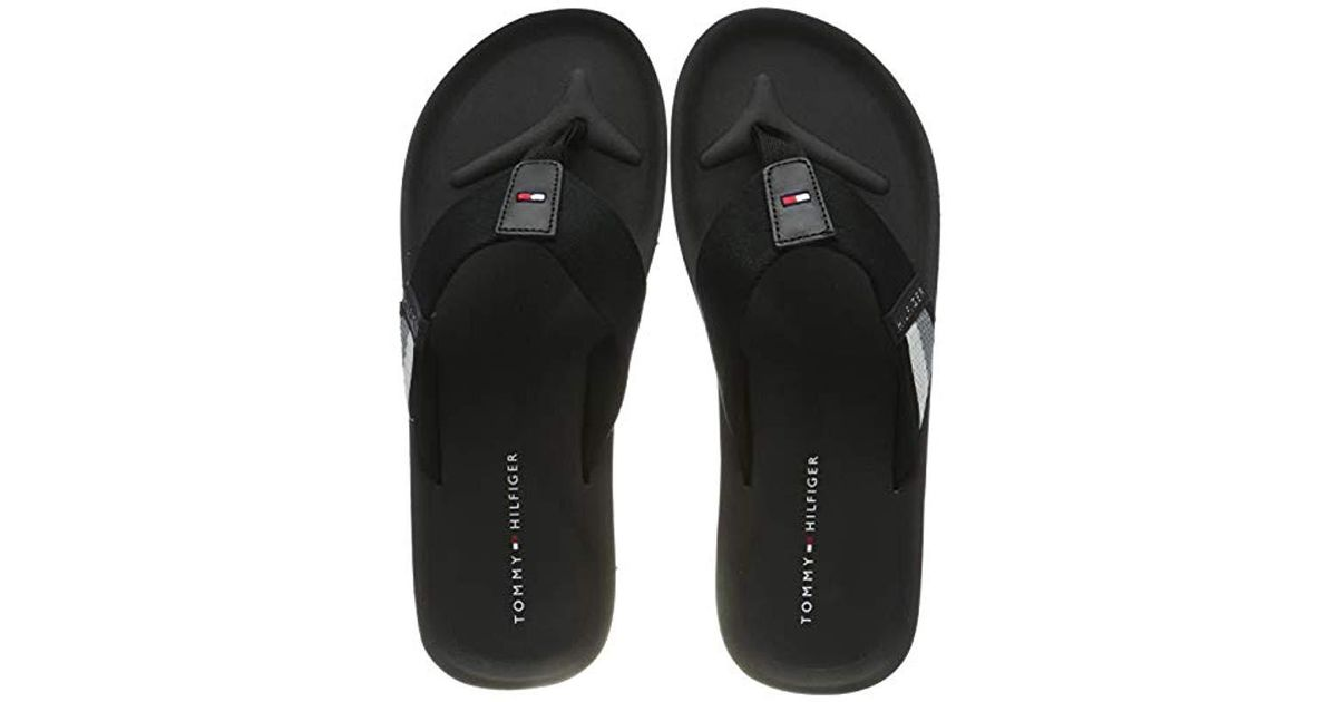 a7b266db3 Tommy Hilfiger Corporate Stripe Beach Sandal Flip Flops
