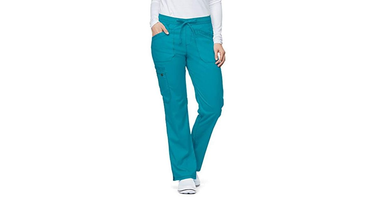 7d6b941ab1e Lyst - Dickies Essence Dk106 Mid Rise Straight Leg Drawstring Pant in Blue