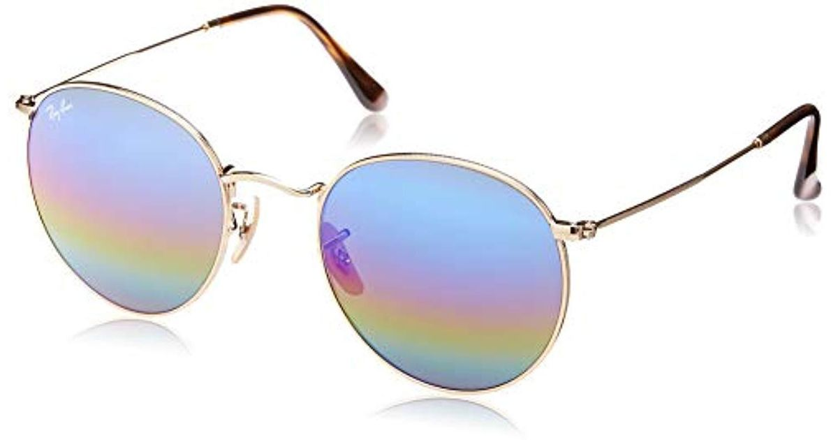 6537d8a5e0 Lyst - Ray-Ban Ray Ban 0rb3447 Round Metal Sunglasses - Save 20%