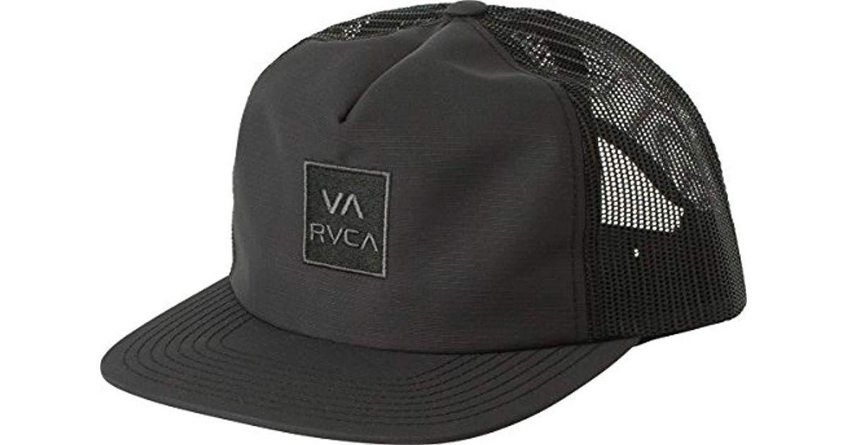 69db28819d301c RVCA Travel Mesh Back Trucker Hat in Black for Men - Save 10% - Lyst
