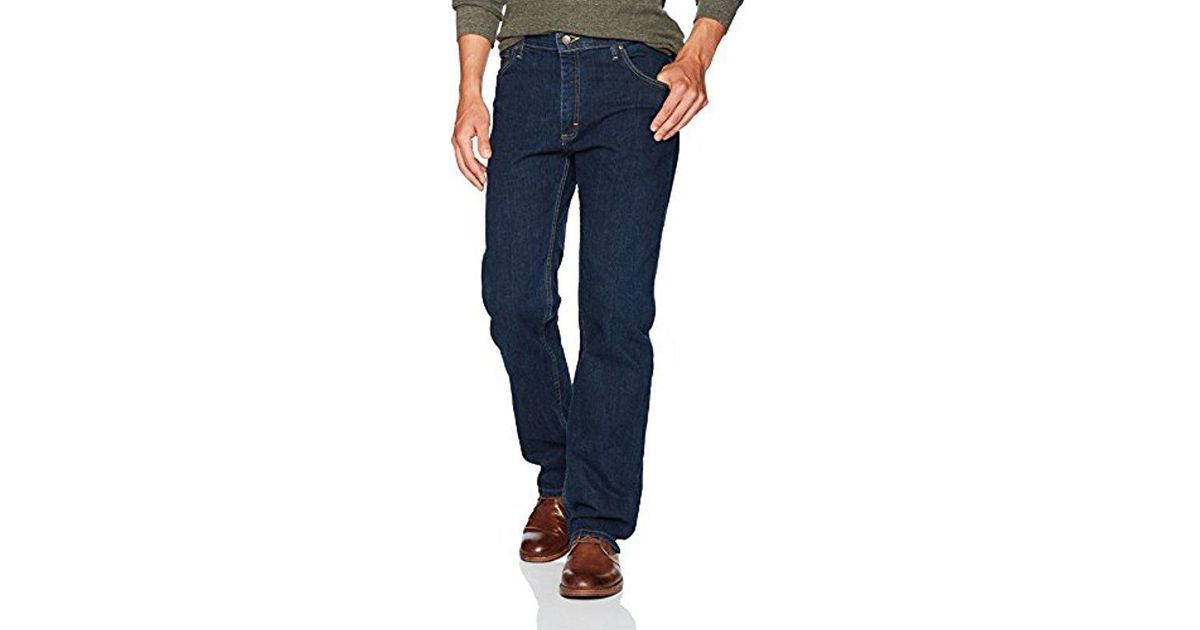 waistband in men big flex jean s clothing blue comforter waist light stonewash tall lyst wrangler comfort authentics