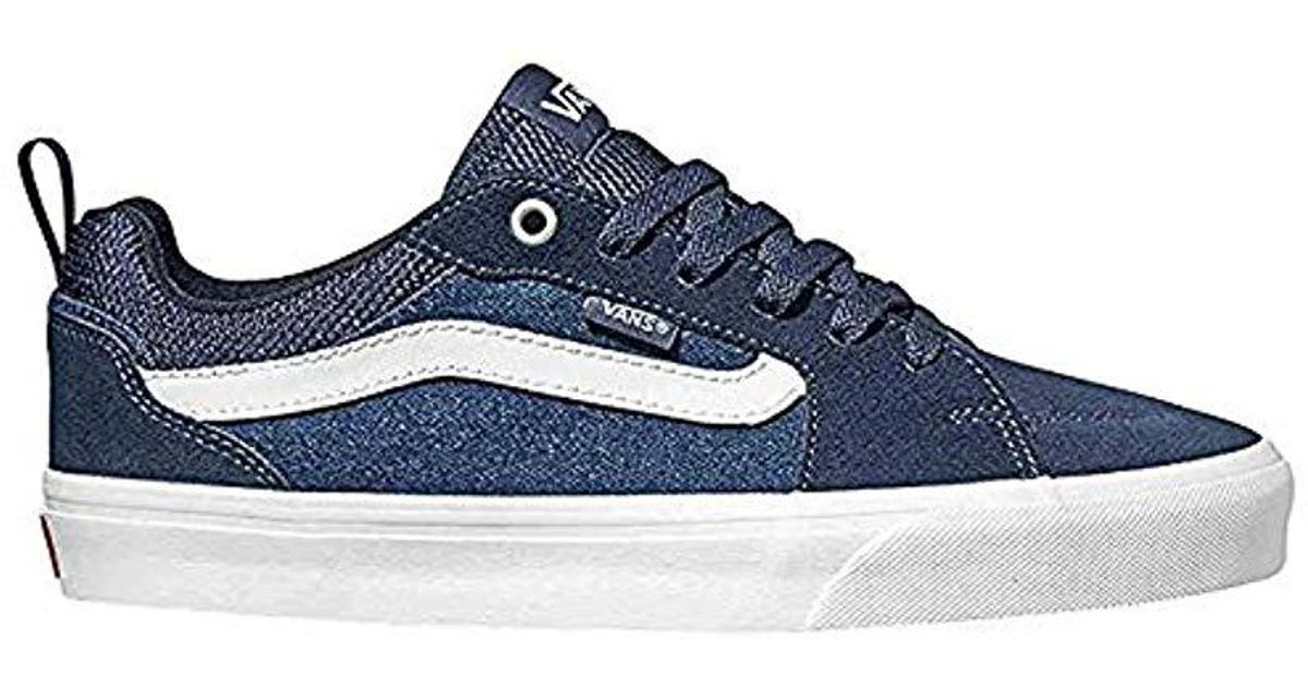 205ad54f6 Vans  s Filmore Suede canvas Trainers in Blue for Men - Lyst
