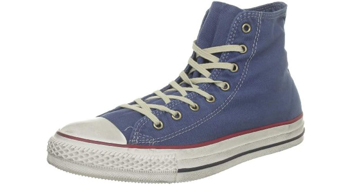 7858c67c05f Converse Unisex Chuck Taylor All Star Canvas Hi-top Trainers in Blue - Lyst