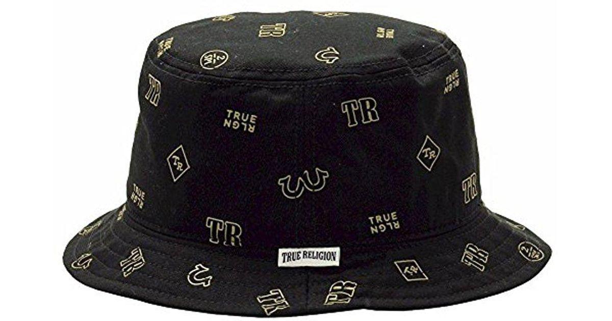 d85ec051a1756 Lyst - True Religion Monogram Tpu Twill Bucket in Black for Men