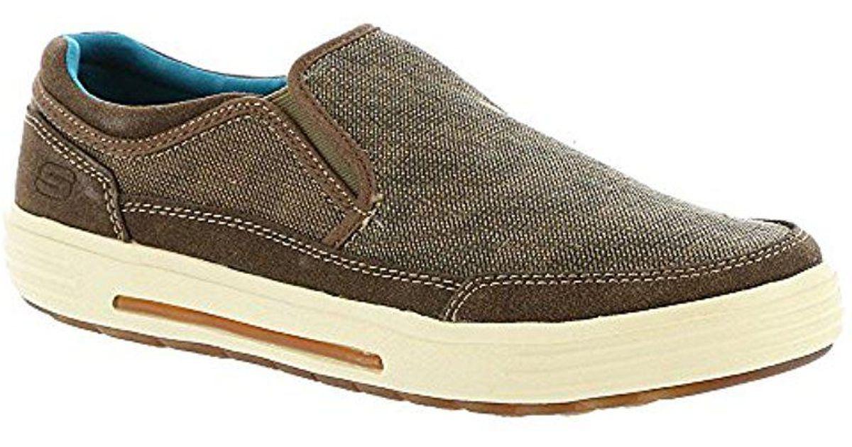 Lyst Skechers Porter Compen Slip on on Slip Loafer in Braun for Men 57c69b