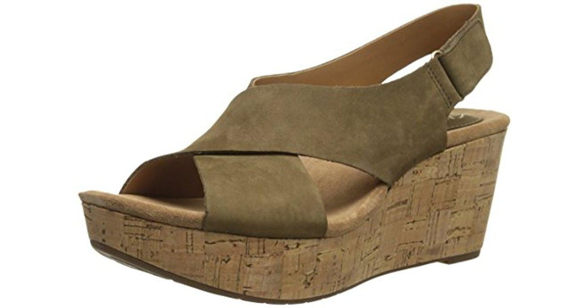 f3a3b57a0d3c Lyst - Clarks Caslynn Shae Wedge Sandal in Natural - Save 14%