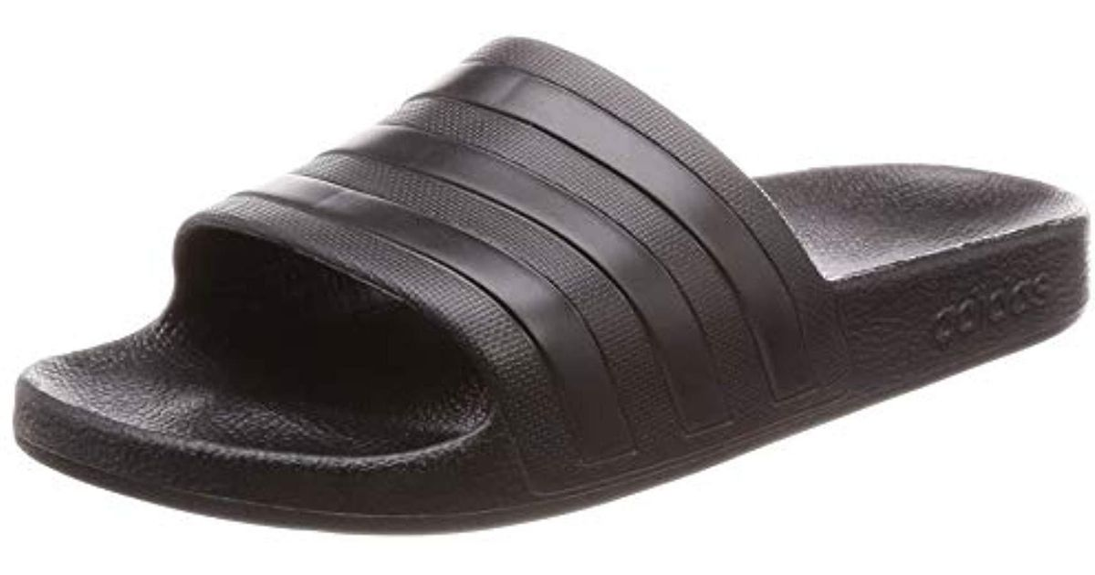finest selection 1ce8d 0f02d adidas Unisex Adults Adilette Aqua Beach  Pool Shoes in Blac