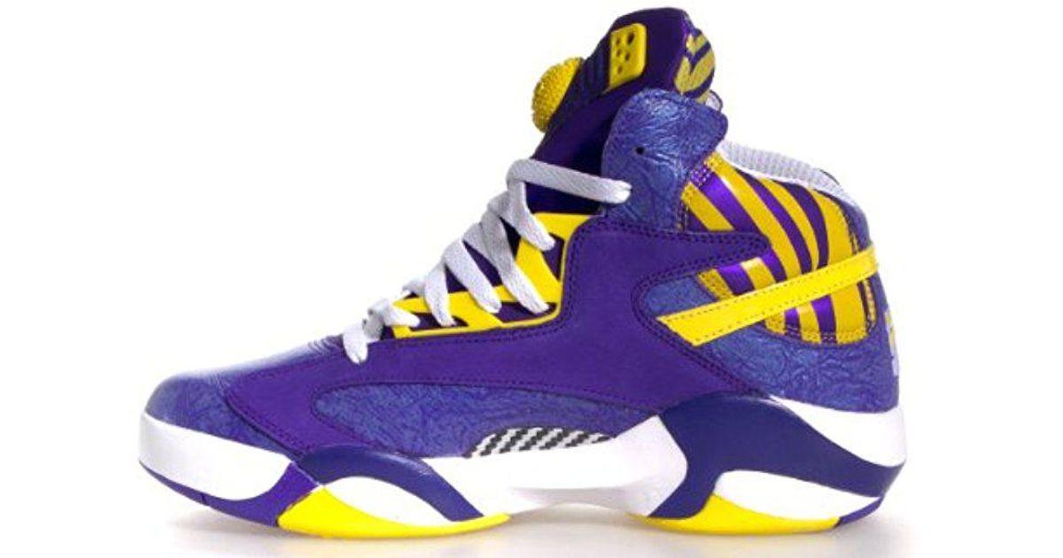5abf7ffc9e3 Lyst - Reebok Shaq Attaq Fashion Sneaker in Purple for Men