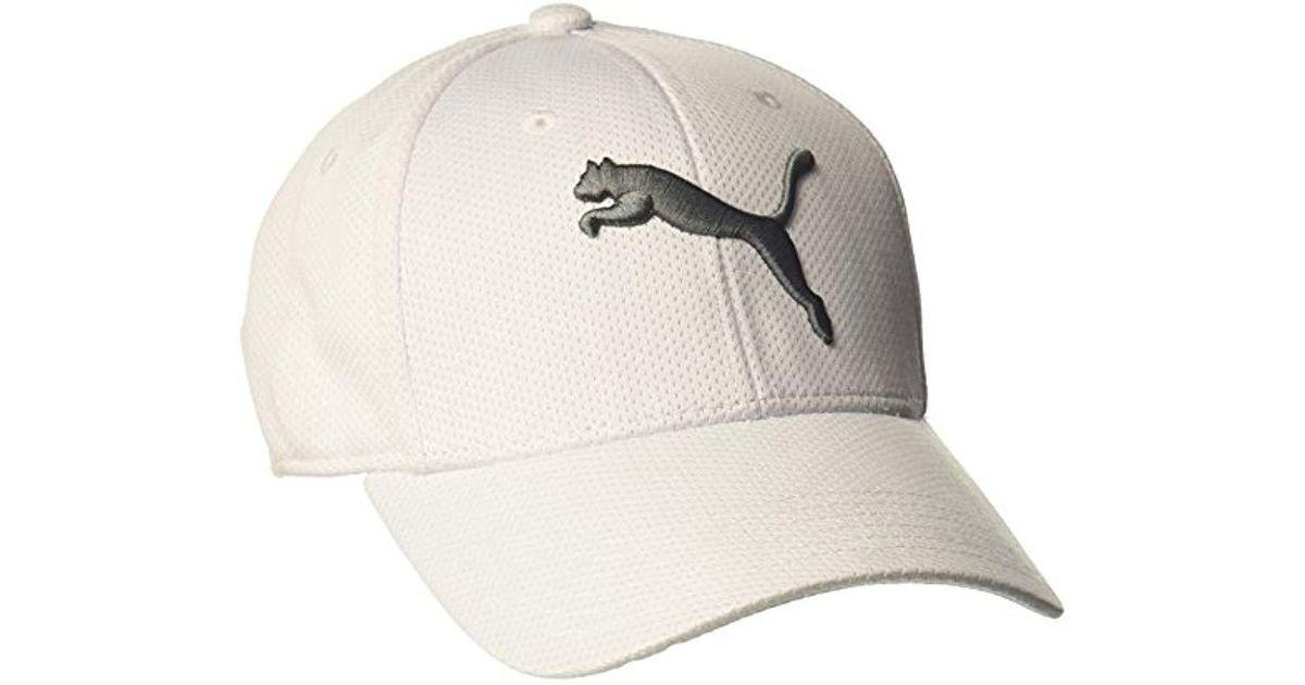 sale lyst puma evercat alloy stretch fit cap in white for men 63530 2c8f5 df80518dba9f