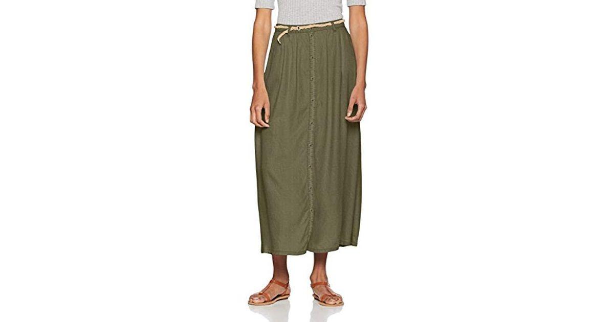 466cdd8c2d Vero Moda Vmzoe Nw Ankle Button Skirt Ga in Green - Lyst