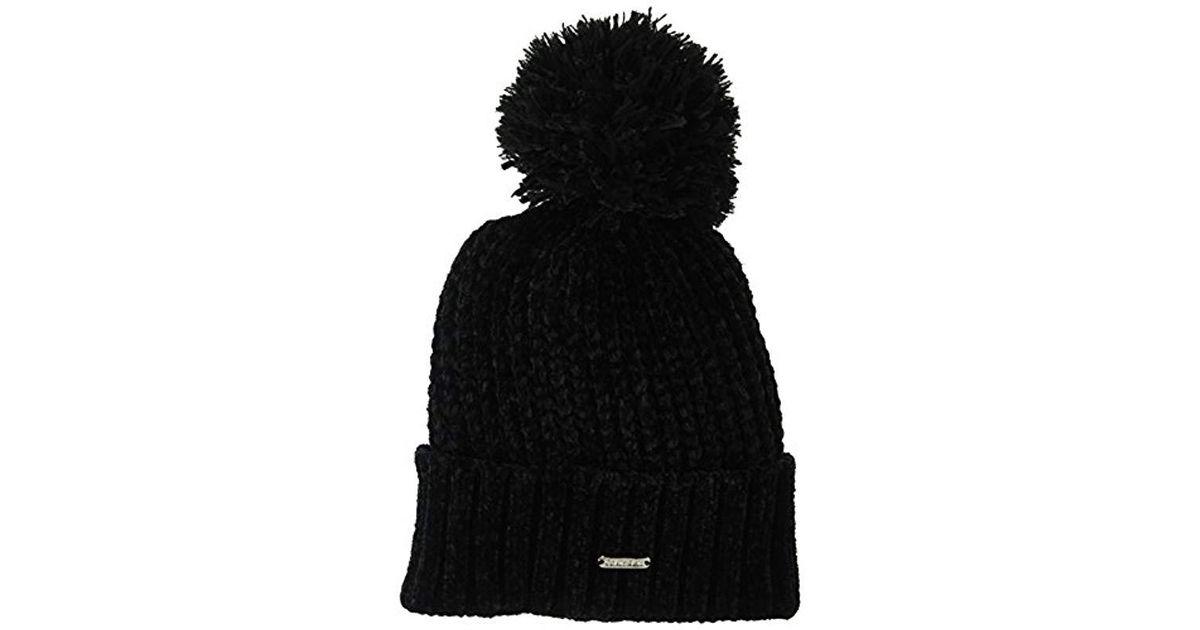 9b641f74772 Lyst - Calvin Klein Pom Beanie in Black