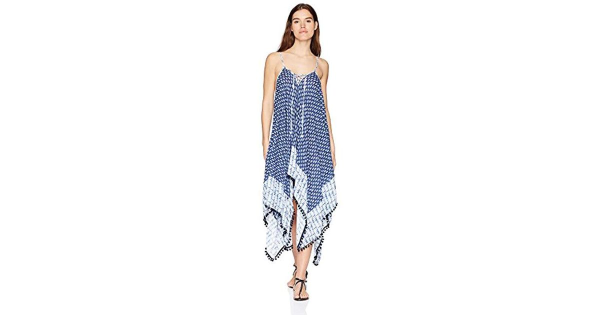 acc17b4842 Lyst - Jessica Simpson Lace-up Swim Cover Up in Blue