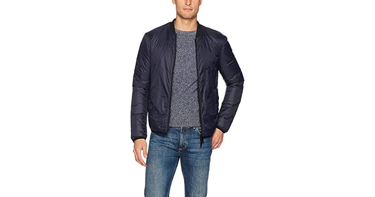 31da4c1c1b4f Lyst - Armani Jeans Plus Size Nylon Full Zip Bomber Jacket in Blue for Men  - Save 6%